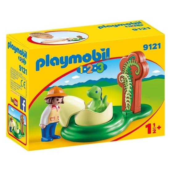 Playmobil, 1.2.3 - Flicka med dinosaurieägg