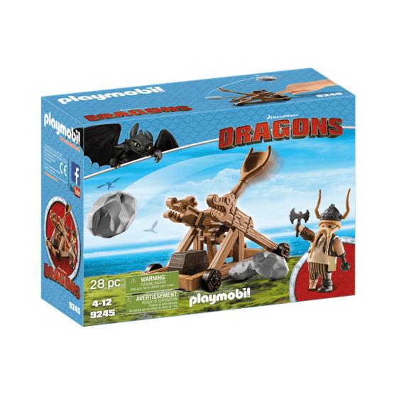 Playmobil Dragons 9245, Gape med katapult