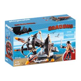 Playmobil Dragons 9249, Eret med ballista med fyra skott