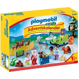 "Playmobil, 1.2.3 - Adventskalender ""Jul i djurens skog"""