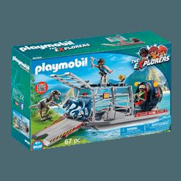 Playmobil, Explorers - Propellerbåt med dinosauriebur