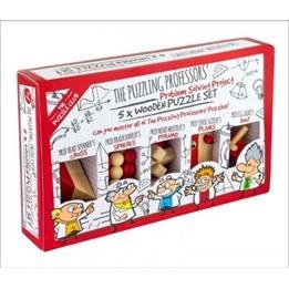 Professor Puzzle, Fem träpussel för barn