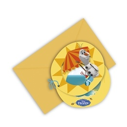 Disney Frozen Olaf, Inbjudningskort, 6 st