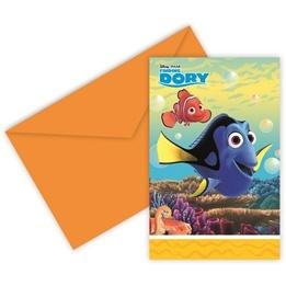 Disney Hitta Doris, Inbjudningskort 6 st