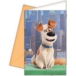 Husdjurens Hemliga Liv, Inbjudningskort 6 st