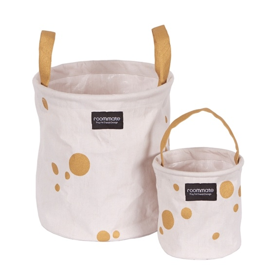 Roommate - Golden Dots Basket Set