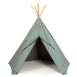 Hippie Tipi - Lektält - 100% Ekologisk Bomull - Sea Grey
