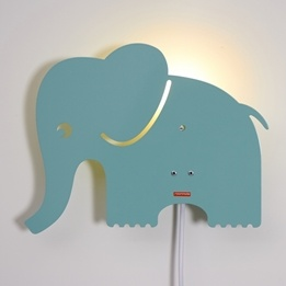 Roommate - Elephant Lamp Pastel Blue