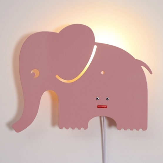 Roommate - Elephant Lamp Pastel Rose
