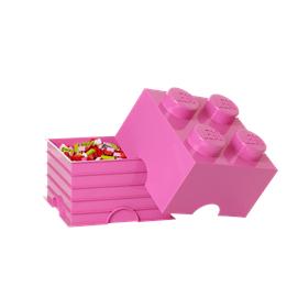LEGO, Förvaringsbox 4, medium pink