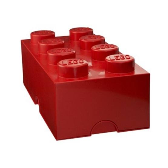 LEGO, Förvaringsbox 8, red
