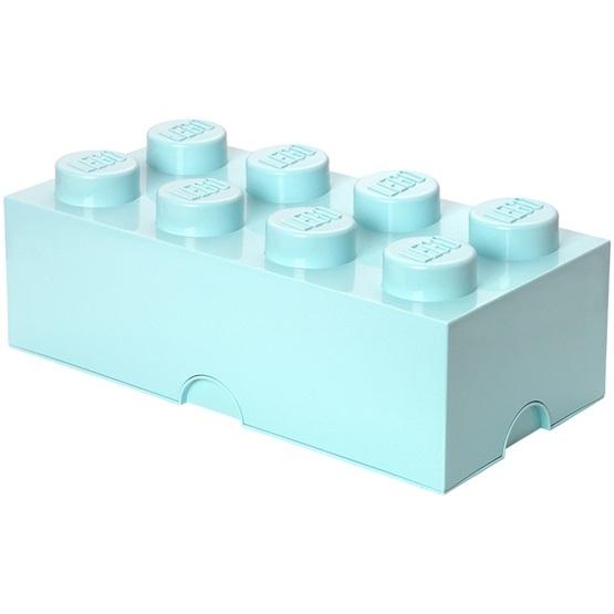 LEGO, Förvaringsbox 8, aqua light blue
