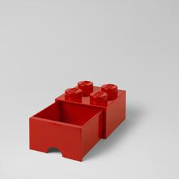 LEGO, Förvaringsbox 4 med lådor, Röd