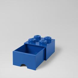 LEGO, Förvaringsbox 4 med lådor, blue