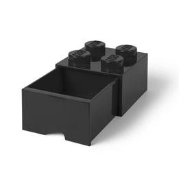 LEGO Förvaringsbox 4 med lådor (Svart)