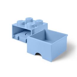LEGO Förvaringsbox 4 med lådor (Ljusblå)