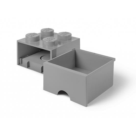 LEGO, Förvaringsbox 4 med lådor, stone grey