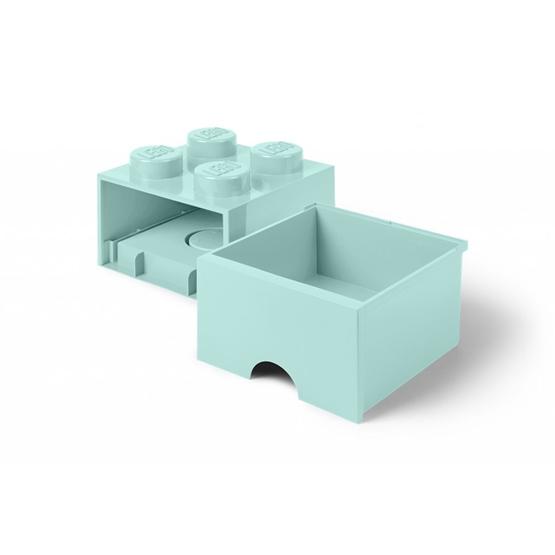 LEGO, Förvaringsbox 4 med lådor, aqua light blue