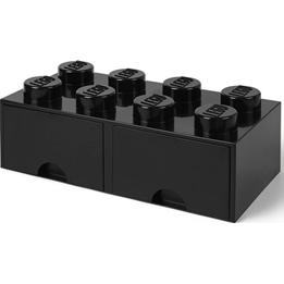 LEGO, Förvaringsbox 8 med lådor, black
