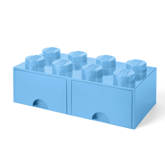 LEGO, Förvaringsbox 8 med lådor, light royal blue