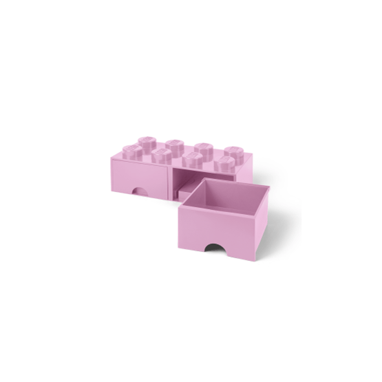 LEGO, Förvaringsbox 8 med lådor, light purple