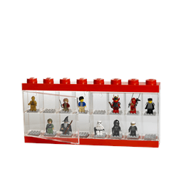 LEGO, Display case för 16 minifigurer, red