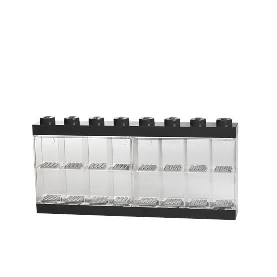 LEGO, Display case för 16 minifigurer, black
