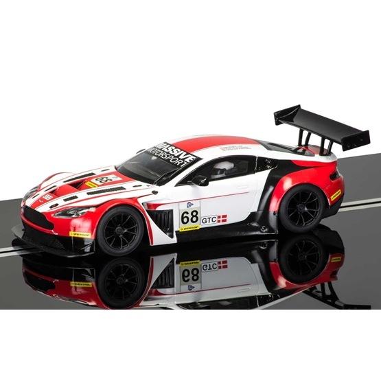 Scalextric, Aston Martin Vantage GT3 Röd/vit, 1:32 HD