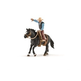 Schleich, 41416 Farm World - Sadlad häst med cowboy