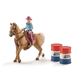 Schleich, 41417 Farm World - Barrel racing med cowgirl