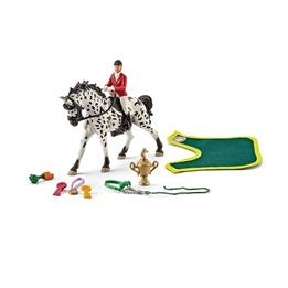 Schleich, 41434 Hästhoppning med tillbehör