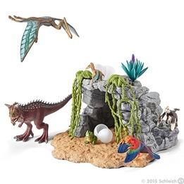 Schleich, 42261 Dinosaurieset med grotta