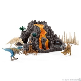 Schleich, 42305 Gigantisk vulkan med T-rex