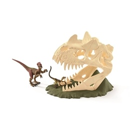 Schleich, 42348 Dinosaurs - Stor skelettfälla med Velociraptor