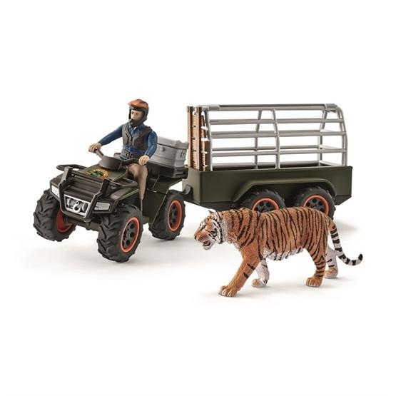 Schleich, 42351 Wild Life - Fyrhjuling med trailer