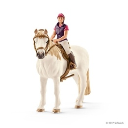 Schleich, 42359 Horse Club - Fritidsryttare med häst