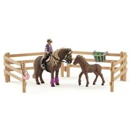 Schleich, 42363 Horse Club - Ryttare med islandshästar
