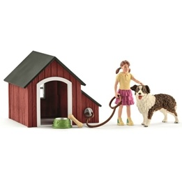 Schleich, 42376 Farm World - Hundkoja