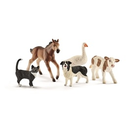 Schleich, 42386 Farmor World - Bondgårdsdjur 5-pack
