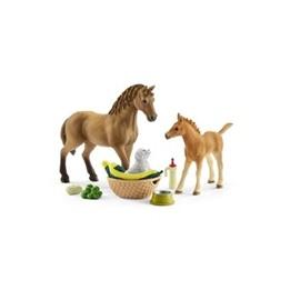 Schleich, 42432 Horse Club - Häst & föl med hundvalp