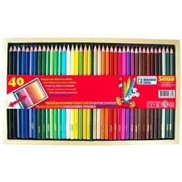 Träfärgpennor, 40 st