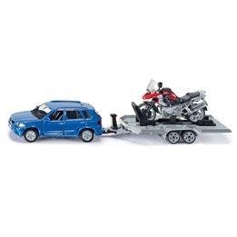 Siku, BMW X5 med släp & motorcykel