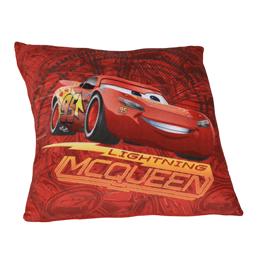 Disney Cars 3, Kudde 35x35 cm - Blixten McQueen röd