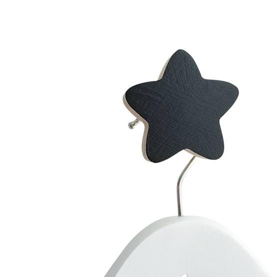 Knobbly, Väggkrok Stjärna Svart