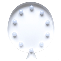 Marquee Light, LED-light Ballong Vit