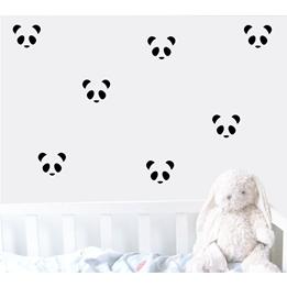 Familyroom, Wallsticker Panda Svart 15 st