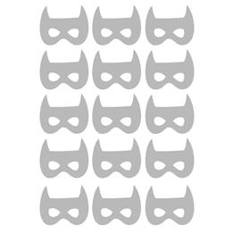 Familyroom, Wallsticker Superhjältar Grå 12 st
