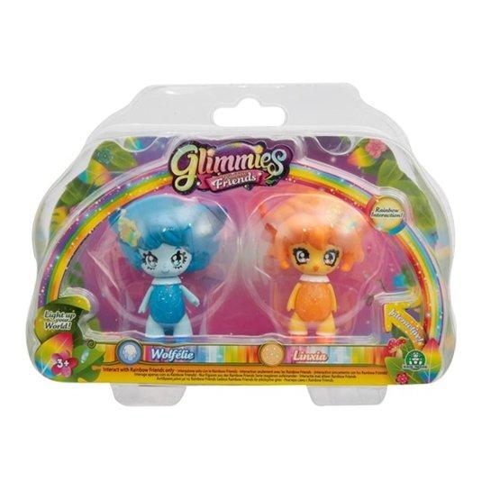Glimmies, Rainbow Friends 2-pack -Wolfélie & Linxia