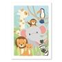 Studio Circus, Affisch - Djur från Djungeln 50x70 cm