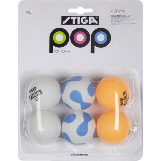 STIGA, POP Smash Pingisbollar 6-pack
